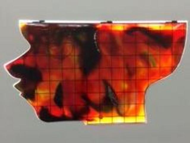 Ein Kunstwerk von Cédric Eisenring mit Feuer-Thema