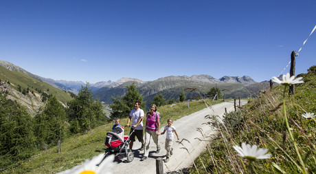 Summer activities for families at Hotel Castell in St. Moritz