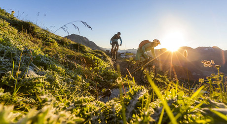 Mountainbiking through the Engadin with miles of biketrails