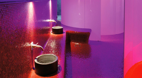 Modern wellness area at Hotel Castell in Zuoz