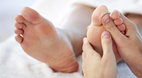 Foot reflexology at Hotel Castell in St. Moritz