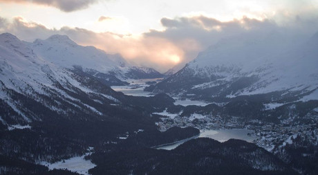 View from Muottas Muragl in Engadin