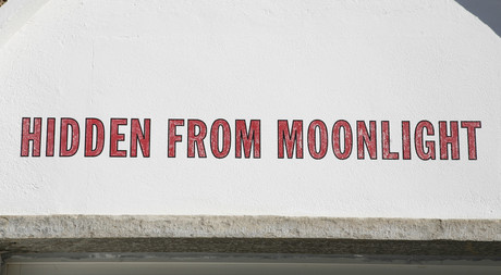 Art from Lawrence Weiner at Hotel Castell in Zuoz