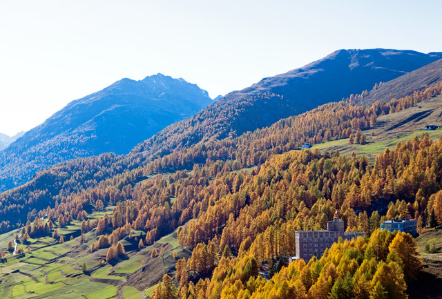 Herbstliche Berglandschaft im Engadin